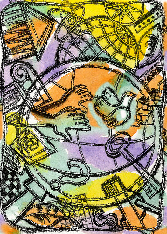 World Wide Web Painting by Leon Zernitsky