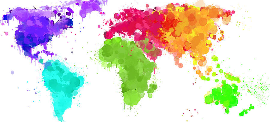 Worldmap ink paint 6 colors v2 digital art by hq photo world digital art worldmap ink paint 6 colors v2 by hq photo gumiabroncs Gallery