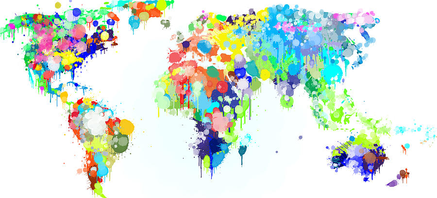 Worldmap ink paint digital art by hq photo world digital art worldmap ink paint by hq photo gumiabroncs Gallery