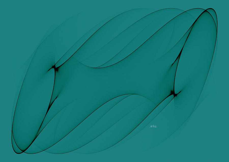 Angela A Stanton Digital Art - Wormhole In Turquoise  by Angela A Stanton