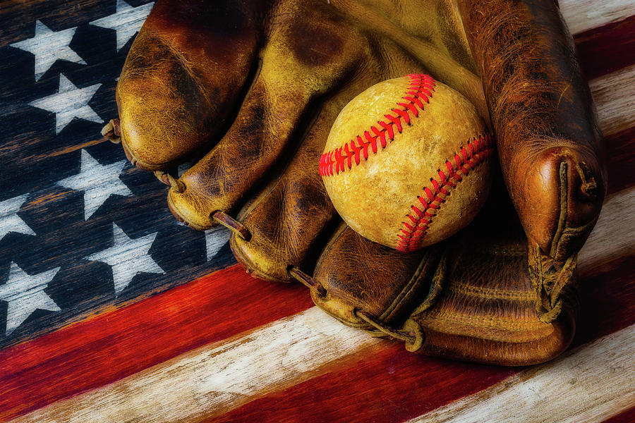American Photograph - Worn Ball And Mitt by Garry Gay