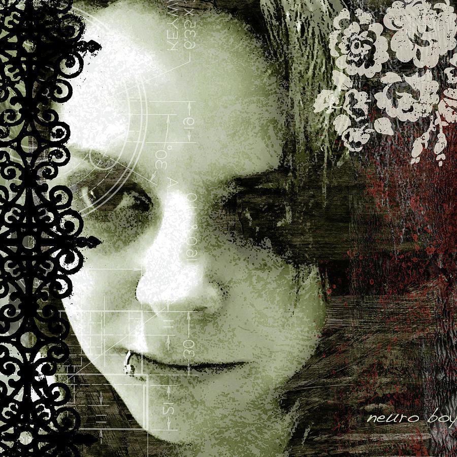 Emo Digital Art - Worn Down By Strangers - Re-edit by Michael Mathews