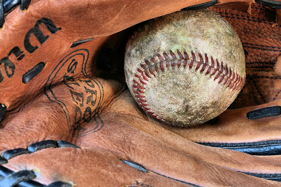 Baseball Photograph - Worn In by JC Findley