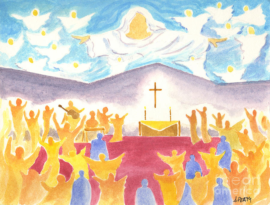 Worship Painting - Worship God In Spirit And Truth by Audrey Peaty