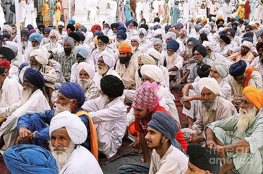 Digital Photograph Photograph - Worshippers At Golden Temple Amritsar India -3 by Padmakar Kappagantula