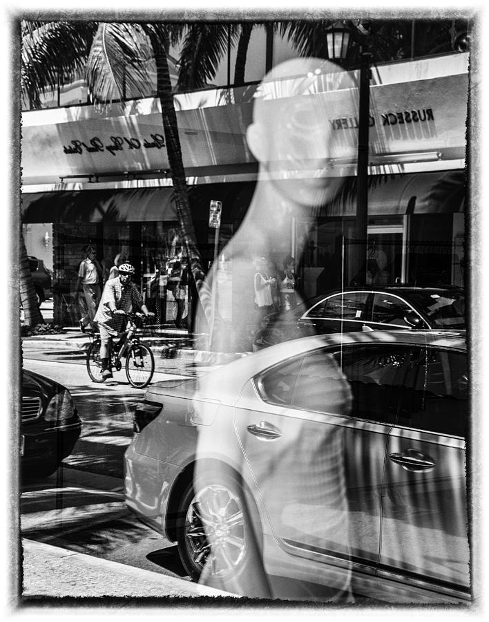 Florida Photograph - Worth Ave Reflections 0484 by Bob Neiman