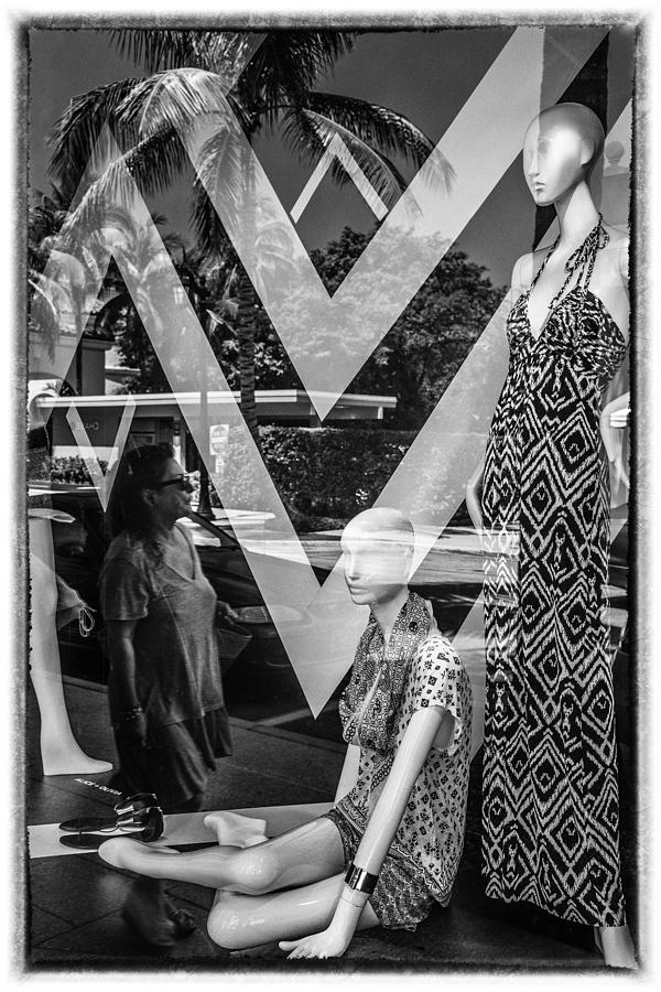 Florida Photograph - Worth Ave Reflections 0487 by Bob Neiman