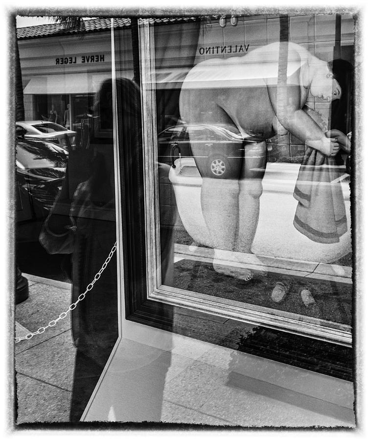 Florida Photograph - Worth Ave Reflections 0488 by Bob Neiman