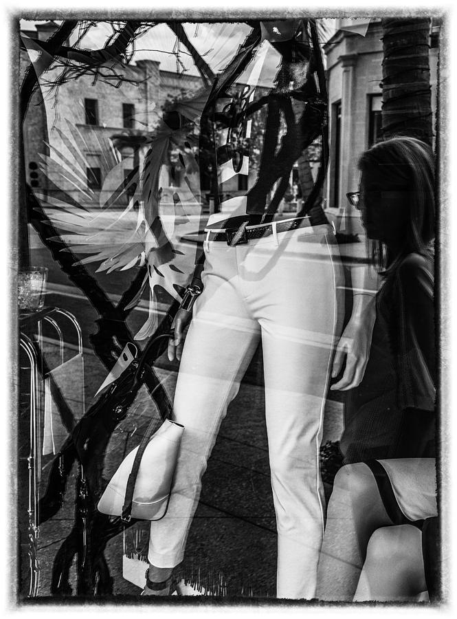 Florida Photograph - Worth Ave Reflections 0519 by Bob Neiman