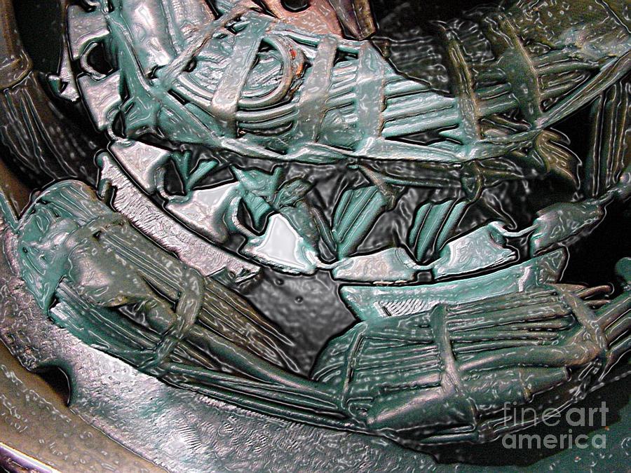 Copper Wire Digital Art - Wound Tight by Ron Bissett