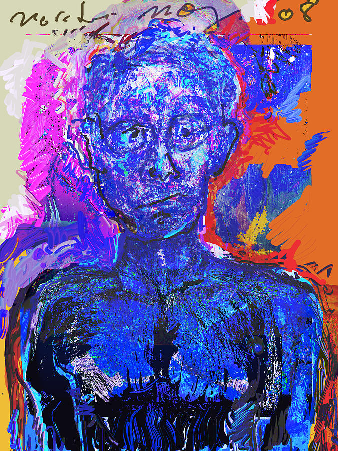 Man Painting - Wounded Sprit II by Noredin Morgan