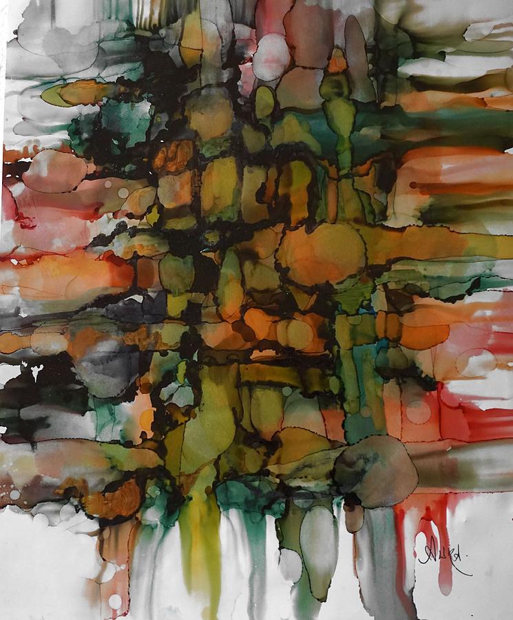 Alcohol Painting - Woven by Alika Kumar