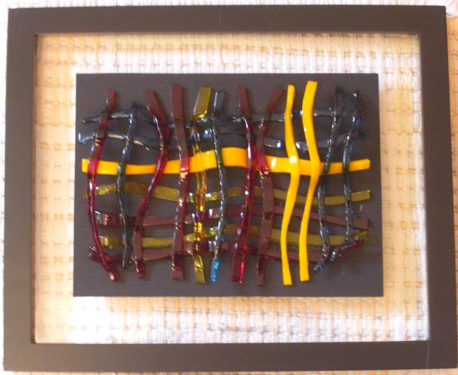 Fused Glass Glass Art - Woven Glass -4 by Judy Jones