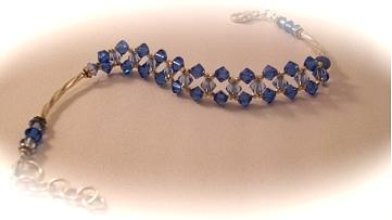 Bracelet Jewelry - Woven Sapphire by Ema Colon