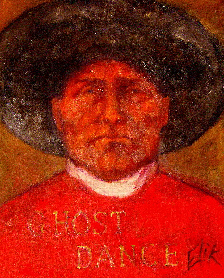 Wovoka -ghost Dance Painting by Johanna Elik