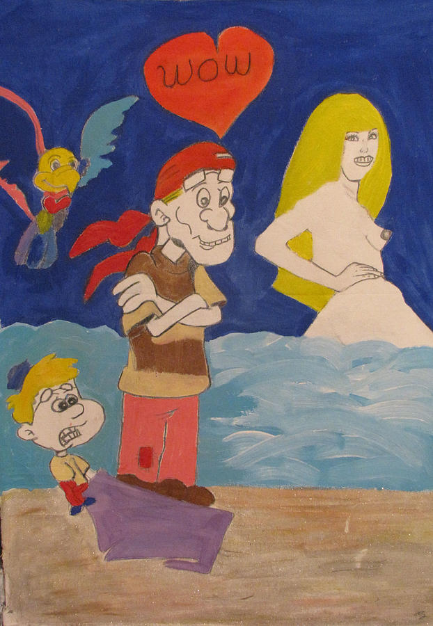 Cartoons Painting - WOW by HollyWood Creation By linda zanini