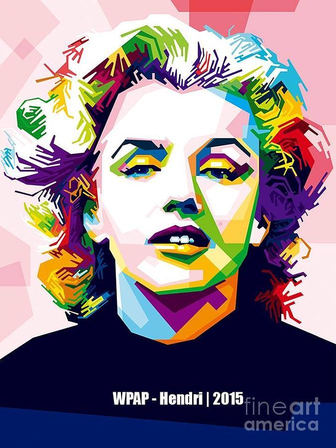 Wpap Marilyn Monroe Digital Art By Marilyn Monroe