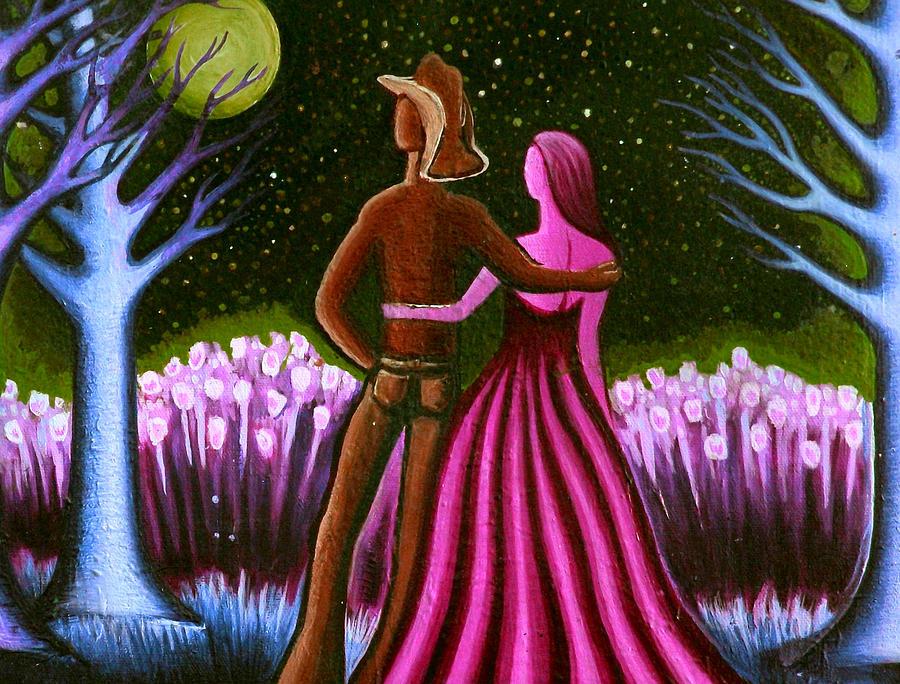 Cowboy Painting - Wranglers Moon II by Brenda Higginson