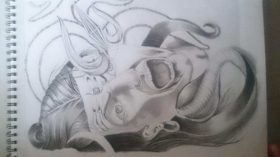 Wrath Of Shiva Drawing By Dhruvin Bhanushali