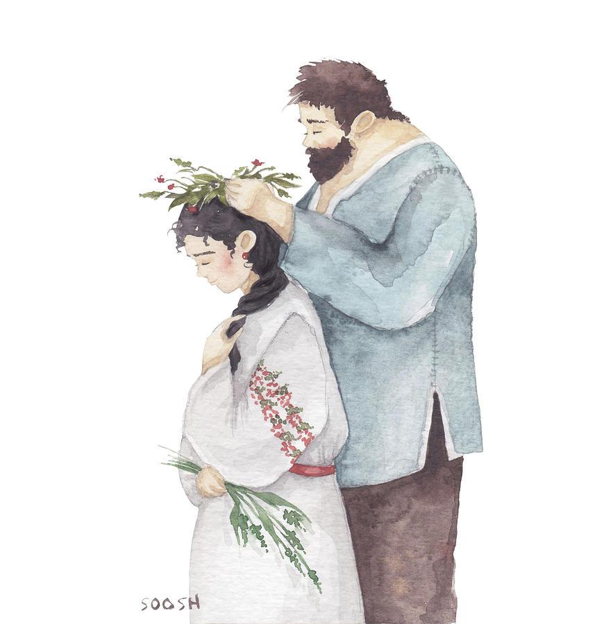 Bysoosh Drawing - Wreath by Soosh