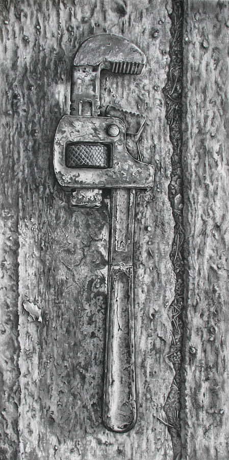 Tool Drawing - Wrench No. 10 by Daniele Jones