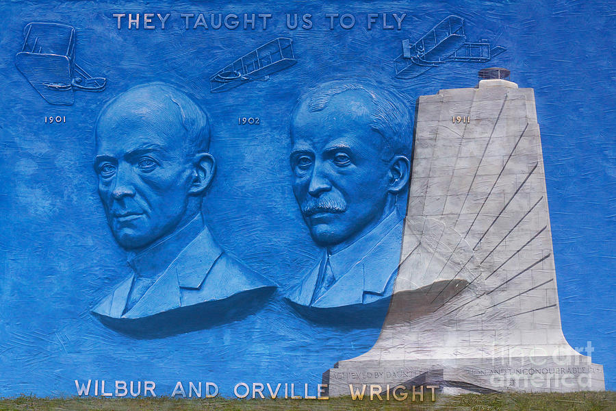 Wright Brothers Memorial Digital Art - Wright Brothers Memorial by Randy Steele