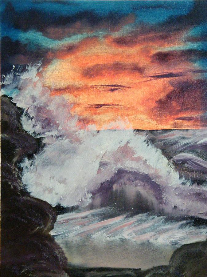 Seascape Painting - Wrightsville Beach North Carolina by Margaret G Calenda