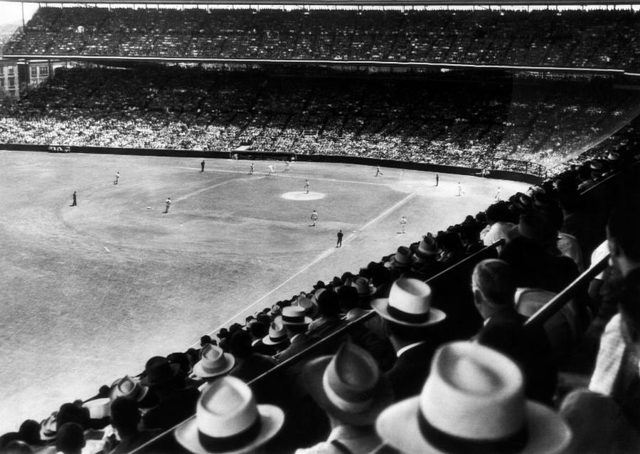 20th Century Photograph - Wrigley Field, Fans Jam The Stands by Everett