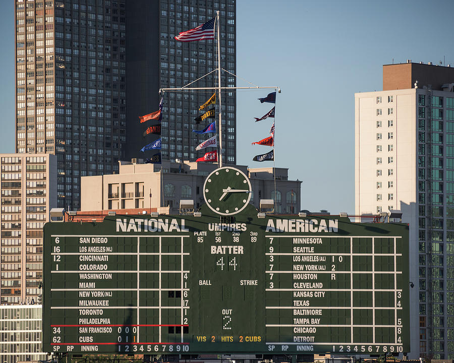 Wrigley Field Scoreboard by Jemmy Archer