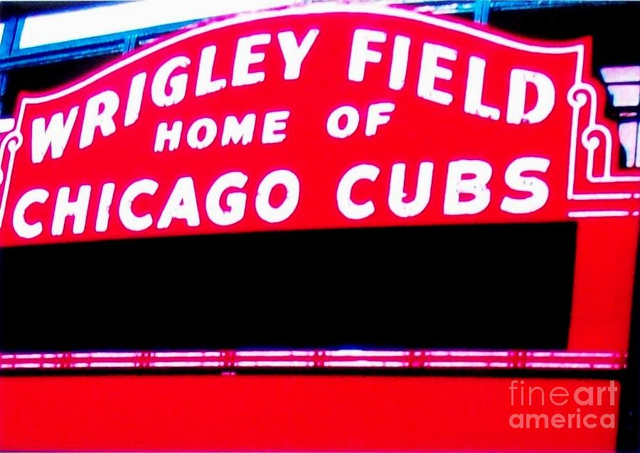 Photo Photograph - Wrigley Field Sign by Marsha Heiken