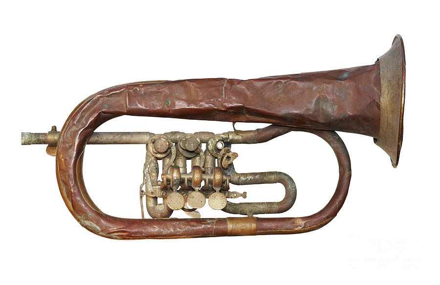 Palette Photograph - Wrinkled Old Trumpet by Michal Boubin