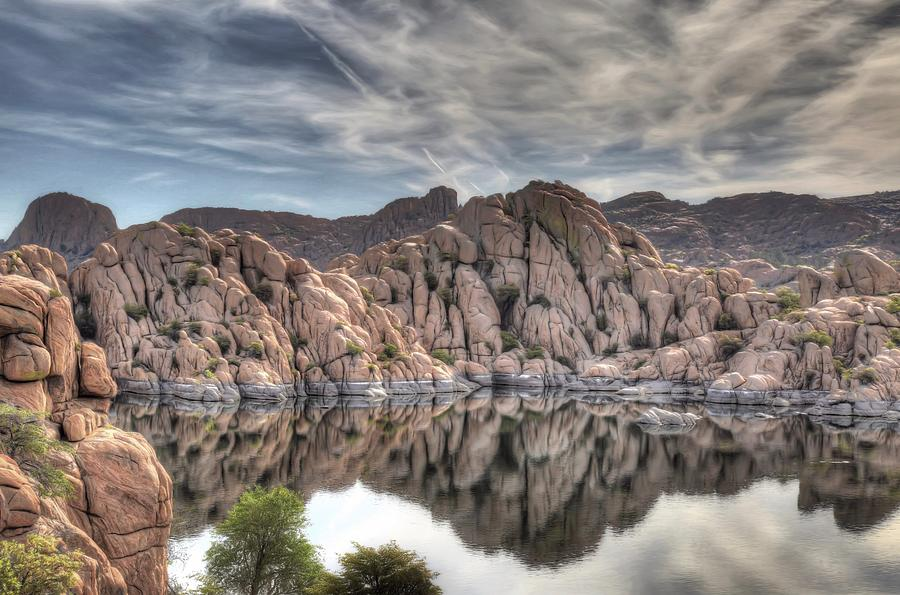 Watson Photograph - Wrinkled Reflections by Donna Kennedy