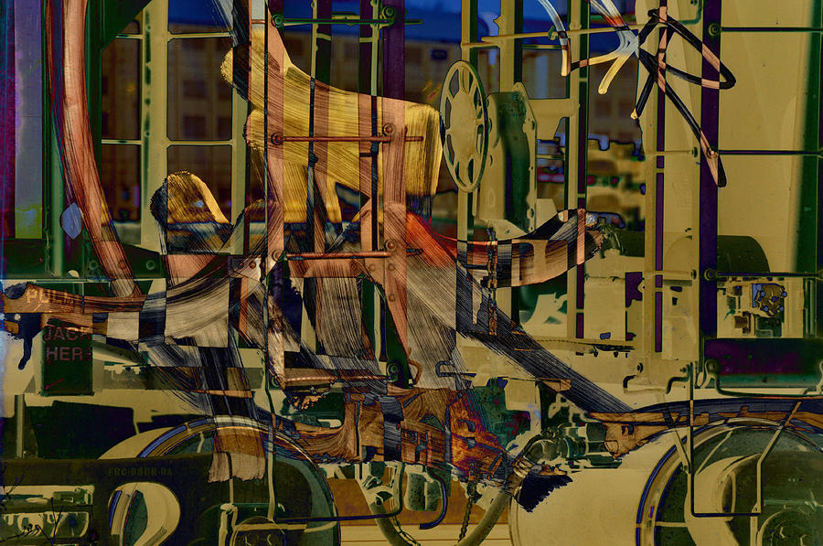 Abstract Photograph - Writing On The Rails 0 by John Ricker