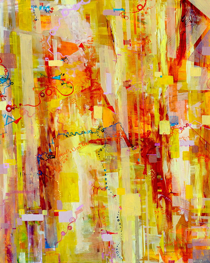Uncertainty Painting - Written In Particles And Waves by Regina Valluzzi