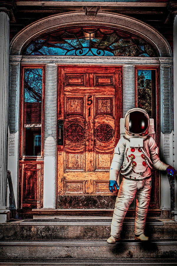 Spaceman Photograph - Wrong Address by Bob Orsillo