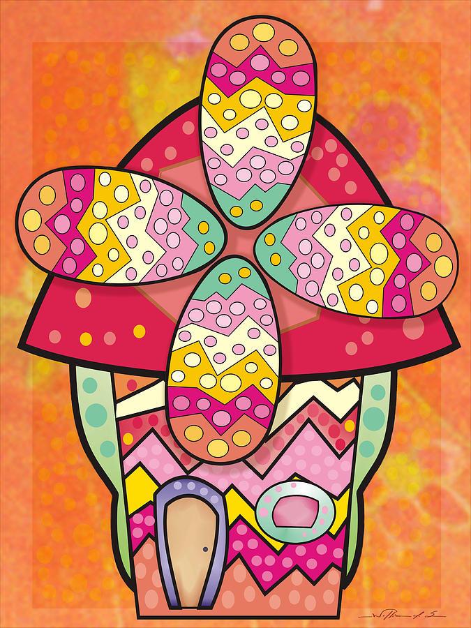 Windmill Digital Art - Ws0051 by William Sousa