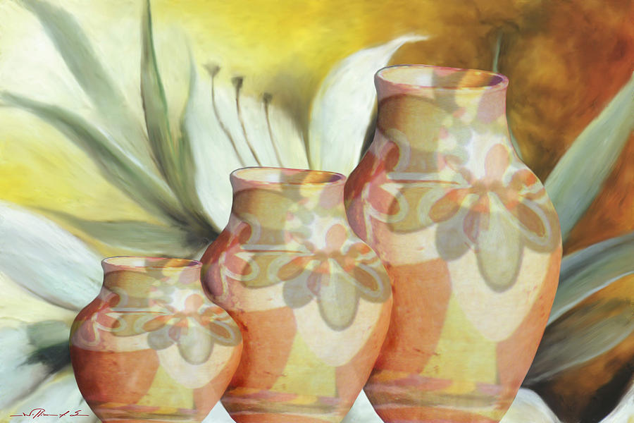 Pottery Digital Art - Ws0052 by William Sousa