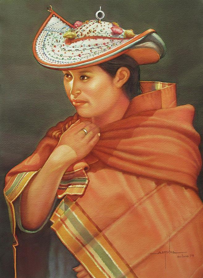 Alfredo Painting - Ws1979bo005potosi Nicolaza 14x20 by Alfredo Da Silva