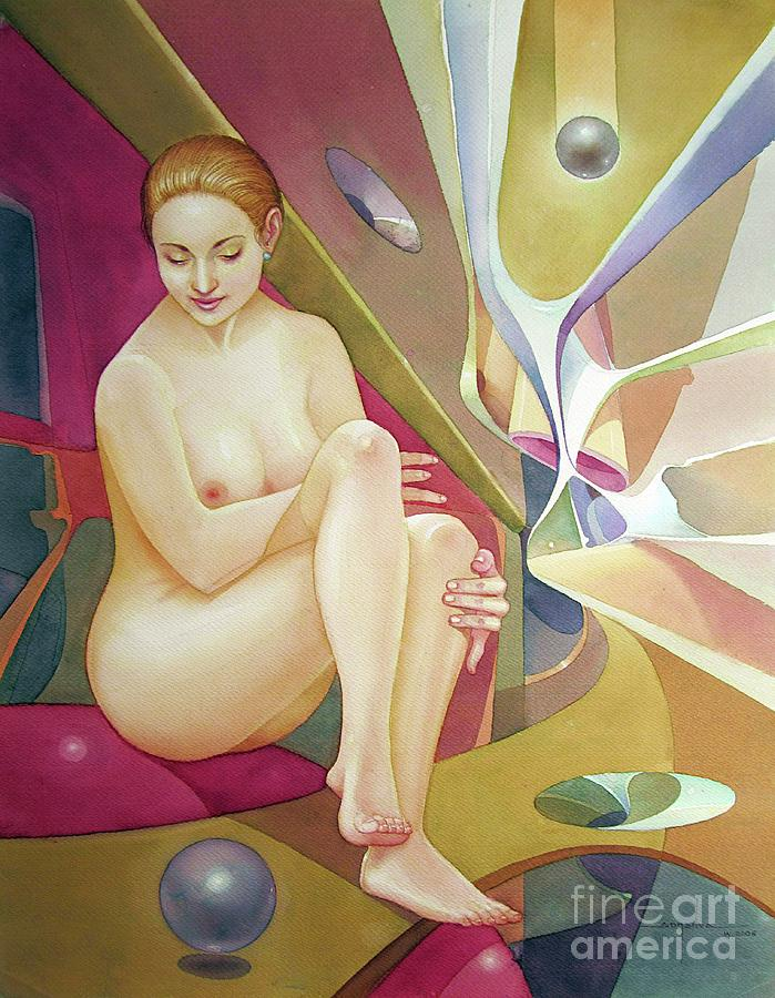 Abstract Painting - Ws2006dc007ar Sylvia Buenos Aires 20x25.75 by Alfredo Da Silva