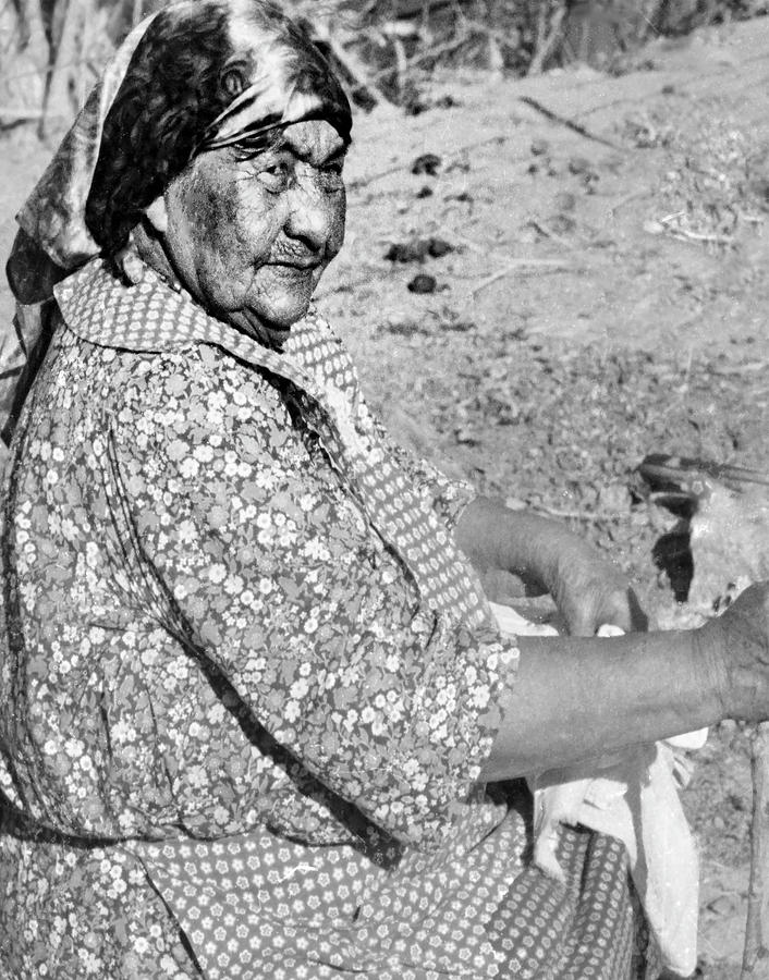 Native American Photograph - Wuzzie Northern Paiute by Susan Crowell