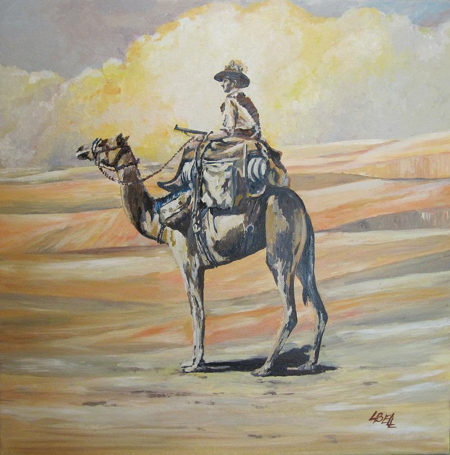 Wwi Painting - Ww1 Light Horse Cameleer by Leonie Bell
