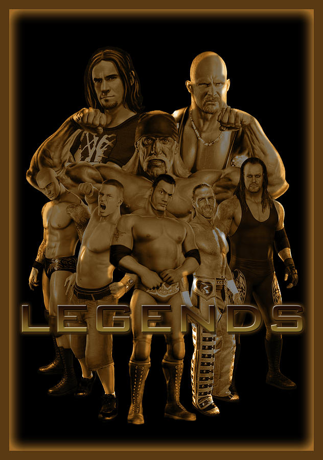 Wwe Digital Art - Wwe Legends By Gbs by Anibal Diaz
