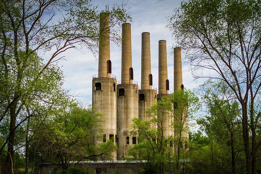 WWll  Ammunition Towers Ruins  - Minnesota by Toni Thomas