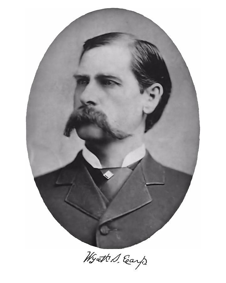 Black Photograph - Wyatt Earp Autographed by John Feiser