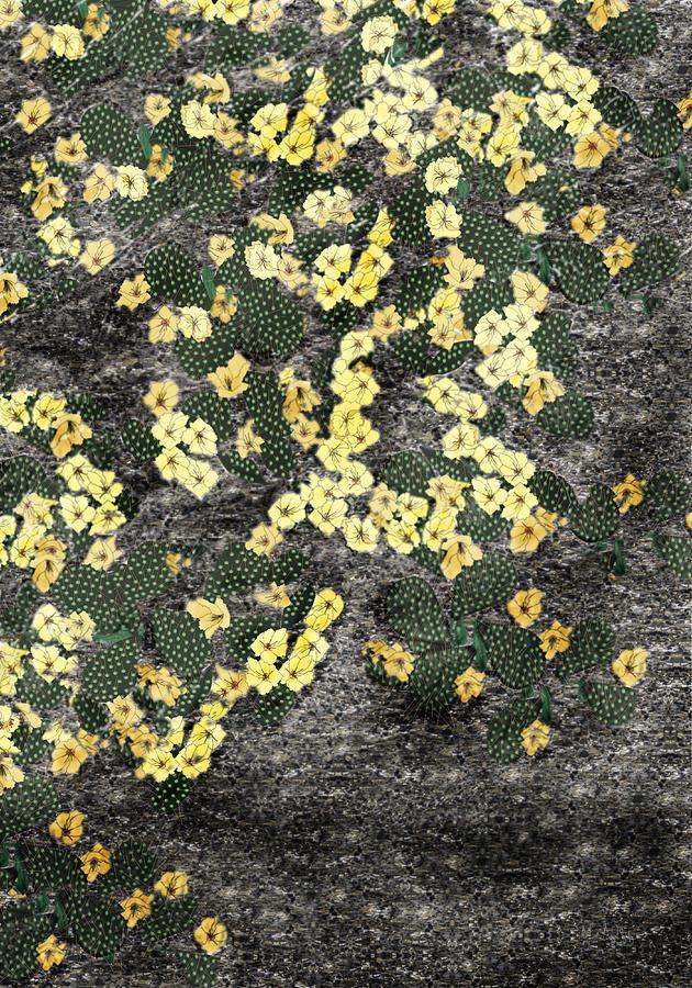 Cactus Painting - Wyoming Cactus by Anne Norskog