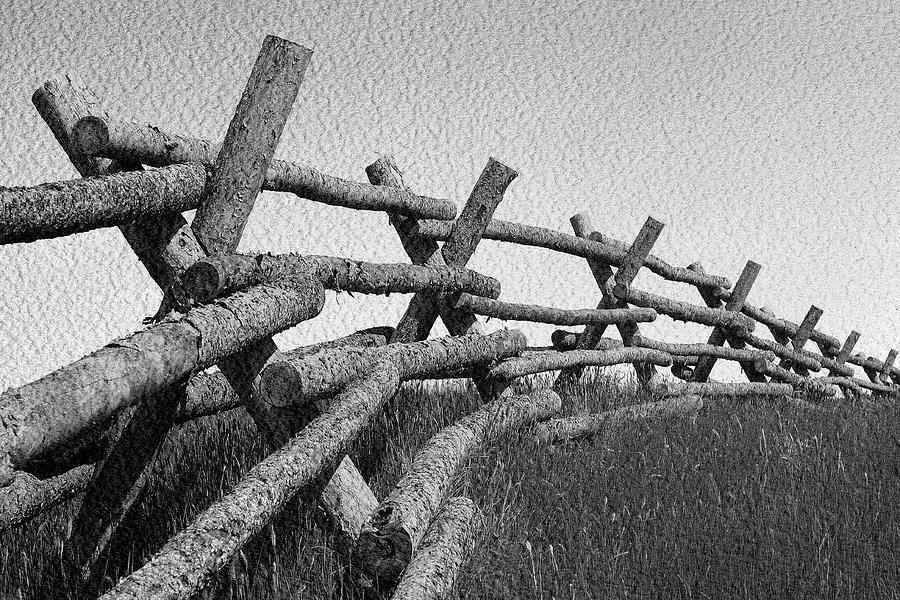 Wyoming Photograph - Wyoming Snow Fence by John Freidenberg
