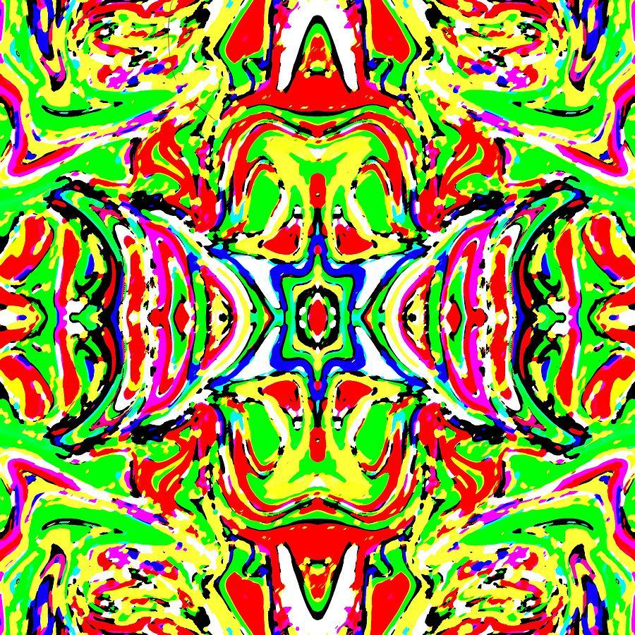 Rainbow Digital Art - Wyver by Blind Ape Art