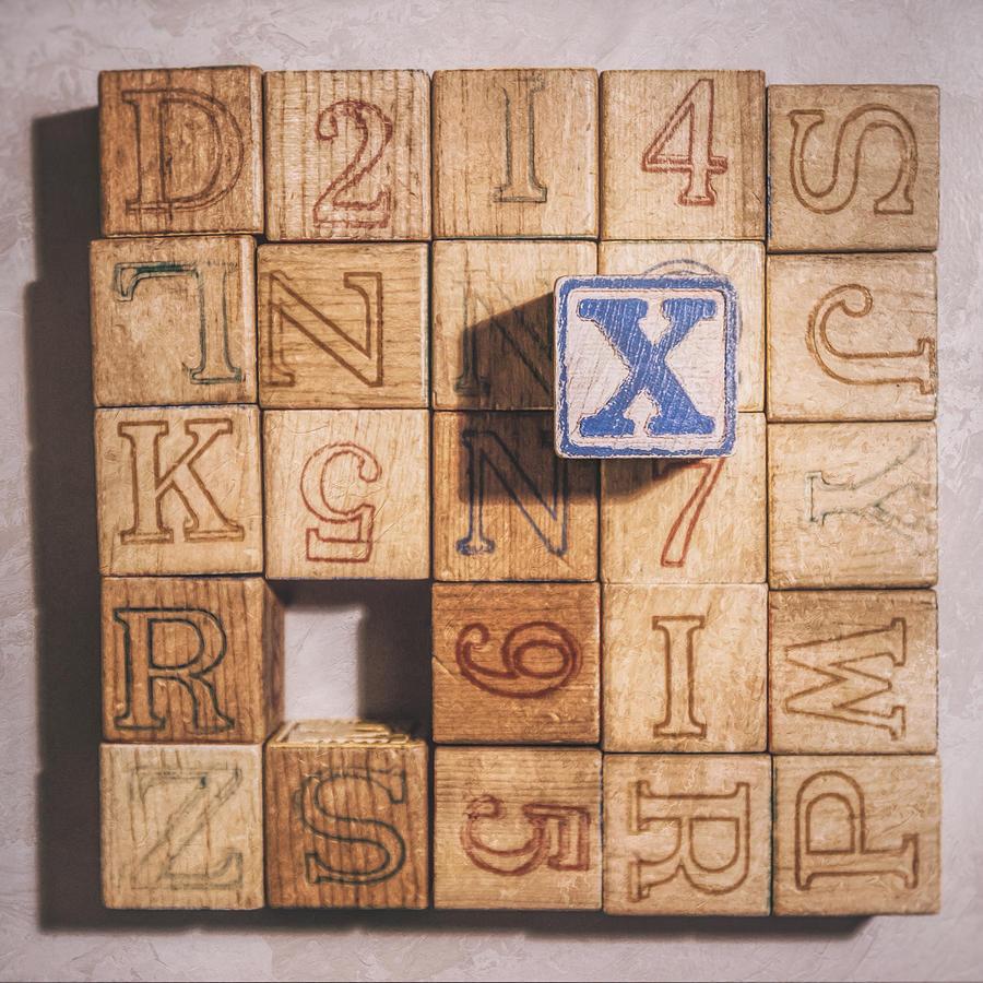 Alphabet Blocks Photograph - X Blocks by Scott Norris