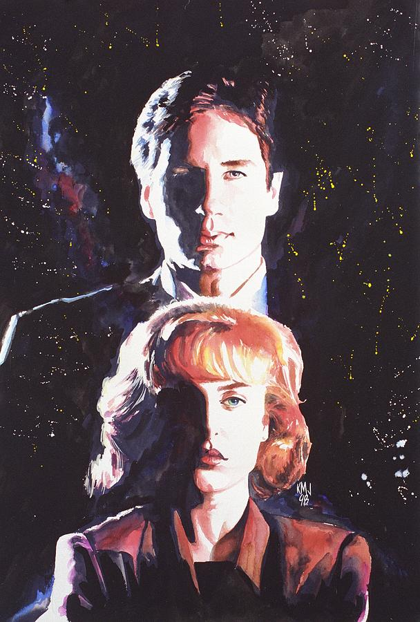 Television Painting - X-files by Ken Meyer