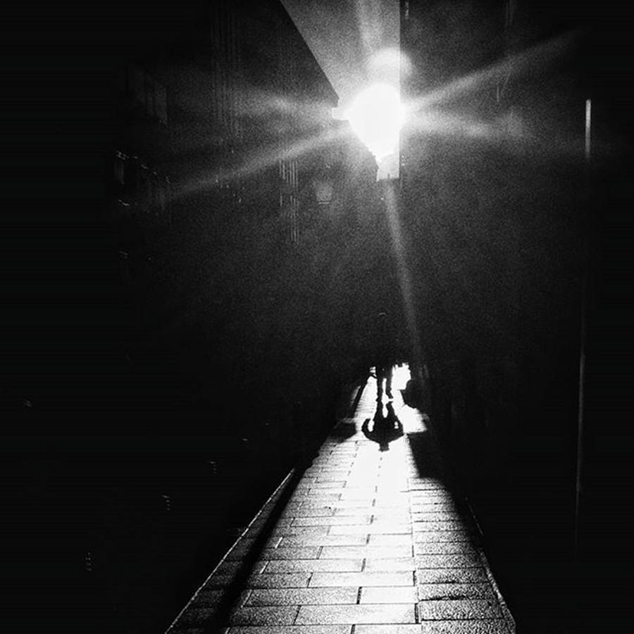 Beam Photograph - X-mas Tree Man #sun #beam #light by Rafa Rivas